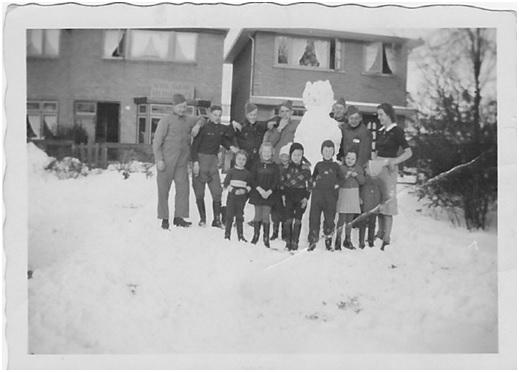 Soldaten in sneeuw